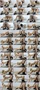 MegaSexy84 - Блондинка в чулках стоя раком жестко трахнута в жопу / Blonde in stockings standing doggy style fucked hard in the ass (2016)